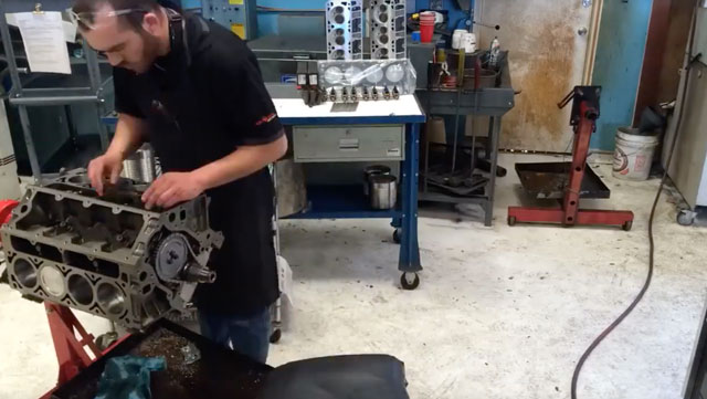 engine assembly time lapse