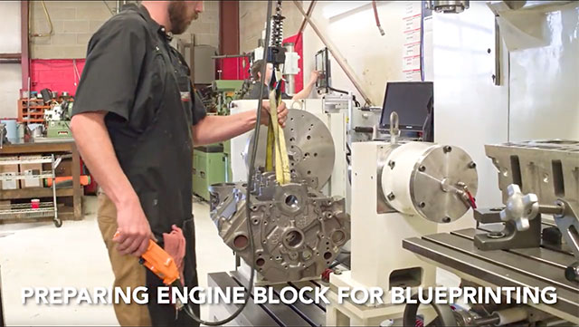 preparing engine block